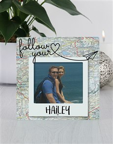 gifts: Personalised Travellers Glass Tile Photo Frame!