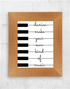 gifts: Personalised Music Wall Art!
