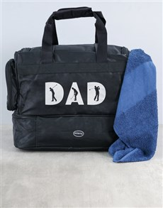 gifts: Personalised Dad Golf Bag and Towel!