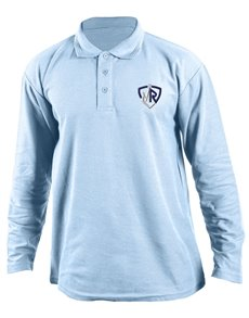 gifts: Personalised Light Blue Mens Golf Shirt!