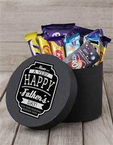 gifts: Personalised Very Happy Fathers Day Choc Hat Box!