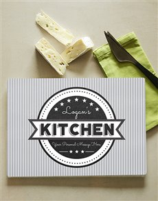 gifts: Personalised Grey Glass Chopping Board!