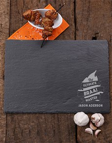 gifts: Personalised Braai Master Slate Board!