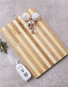 gifts: Personalised King Of The Kitchen Board!