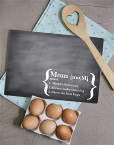 gifts: Personalised Mom Definition Glass Chopping Board!