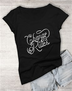gifts: Personalised The Rules T Shirt!