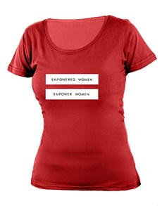 gifts: Personalised Empowered Women T Shirt!