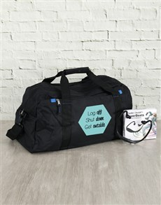 gifts: Personalised Get Outside Bag and Powerbeats!