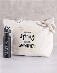 gifts: Personalised Summer Water Bottle and Beach Bag!