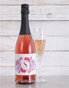 gifts: Personalised Initial Sparkling Rose!