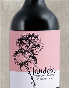 gifts: Personalised Rose Sketch Wine!