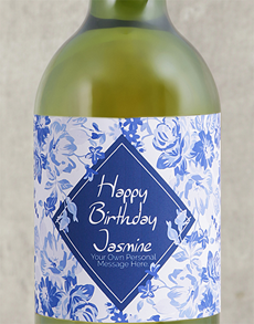 gifts: Personalised Vintage Blue Wine!