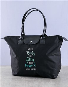 gifts: Personalised Flatter Stomach Fashion Gym Bag!