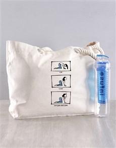 gifts: Personalised Yoga Poses Bag Hamper!