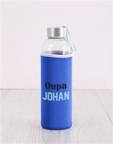 gifts: Personalised Blue Grandpa Water Bottle!