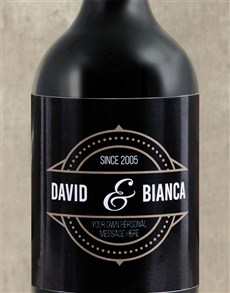 gifts: Personalised Vintage His and Hers Wine!