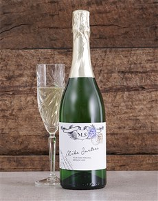 gifts: Personalised Vintage Stamp Bubbly!