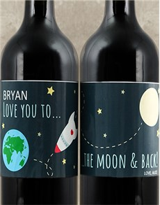 gifts: I Love You Personalised Shiraz!