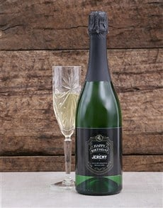 gifts: Personalised Vintage Birthday Bubbly!