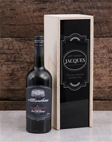 gifts: Personalised Birthday Frame Wine Crate!