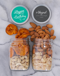 gifts: Personalised Birthday Fruit and Nut Jar Set!