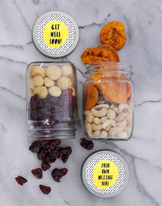 gifts: Personalised Get Well Fruit and Nut Jar Set!