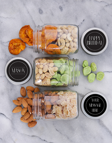 gifts: Personalised Birthday Fruit and Nut Jar Trio!