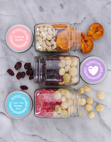 gifts: Personalised Happy Heart Fruit n Nut Jar Trio!