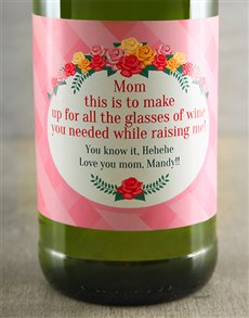 gifts: Mothers Day Personalised Wine!