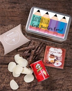 gifts: Personalised Pencil Snack Tin!
