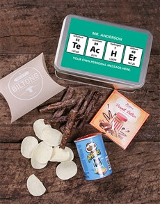 gifts: Personalised Periodic Table Snack Tin!