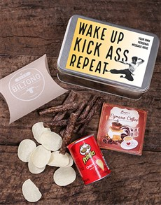 gifts: Personalised Kick Ass Snack Tin!