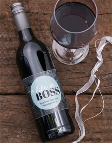 gifts: Personalised Like A Boss Wine!
