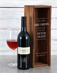 gifts: Personalised Dreamers Wine Crate!