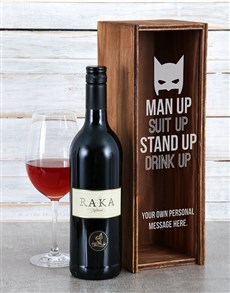 gifts: Personalised Suit Up Wine Crate!