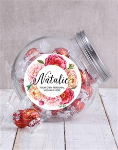 gifts: Personalised Floral Candy Jar!