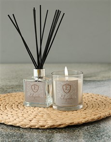 gifts: Personalised Shield Initial Candle!