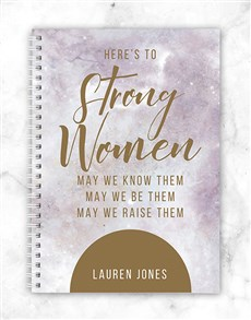 gifts: Personalised Strong Women Notebook!