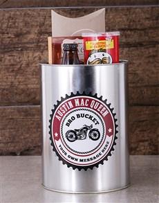 gifts: Personalised Motorcycle Bro Bucket!