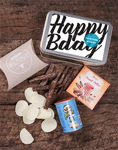 gifts: Personalised Happy Bday Snack Tin!