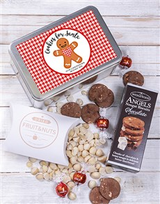 gifts: Personalised Cookies for Santa Snack Tin!