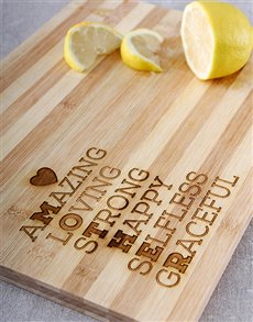 gifts: Words for Mum Chopping Board !