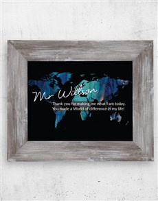 gifts: Personalised World Difference Black Frame!