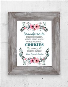 gifts: Personalised Grandparents Love Black Frame!