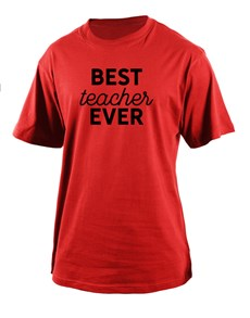 gifts: Personalised Best Teacher T Shirt!