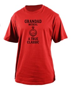 gifts: Personalised Classic Grandad T Shirt!