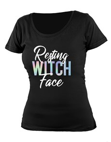 gifts: Personalised Resting Witch Face Ladies T Shirt!