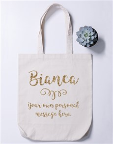 gifts: Personalised Name Branch Totebag!