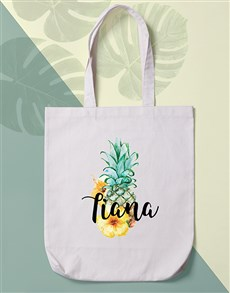 gifts: Personalised Pineapple Tote Bag!