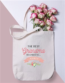 gifts: Personalised Best Grandma Tote Bag!